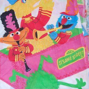 Vintage Sesame Street twin flat sheet